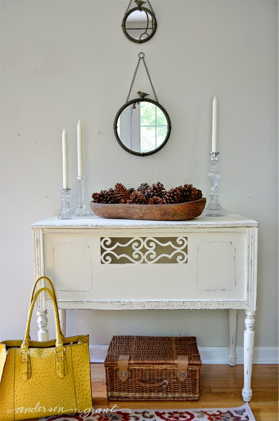 Check out this amazing before and after of a vintage radio stand!  |  www.andersonandgrant.com