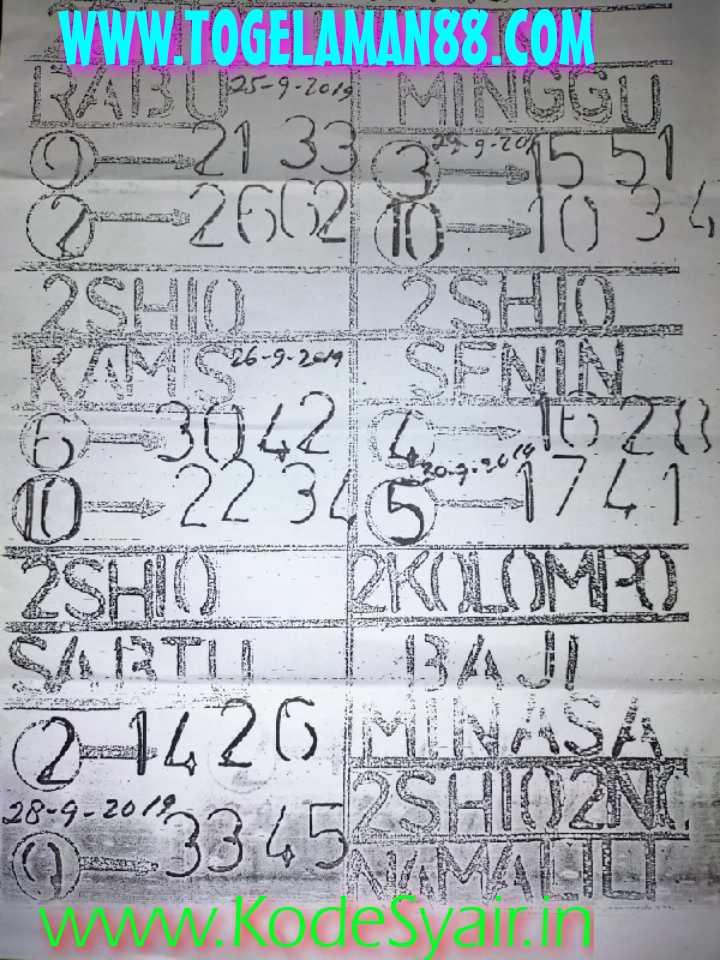 Syair sgp Sabtu 28 September 2019 83