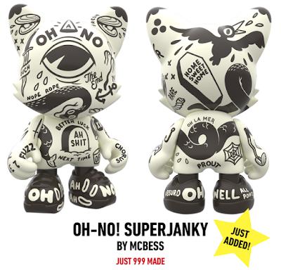 "OH-NO! SuperJanky 8"" Vinyl Figure by McBess x SUPERPLASTIC"