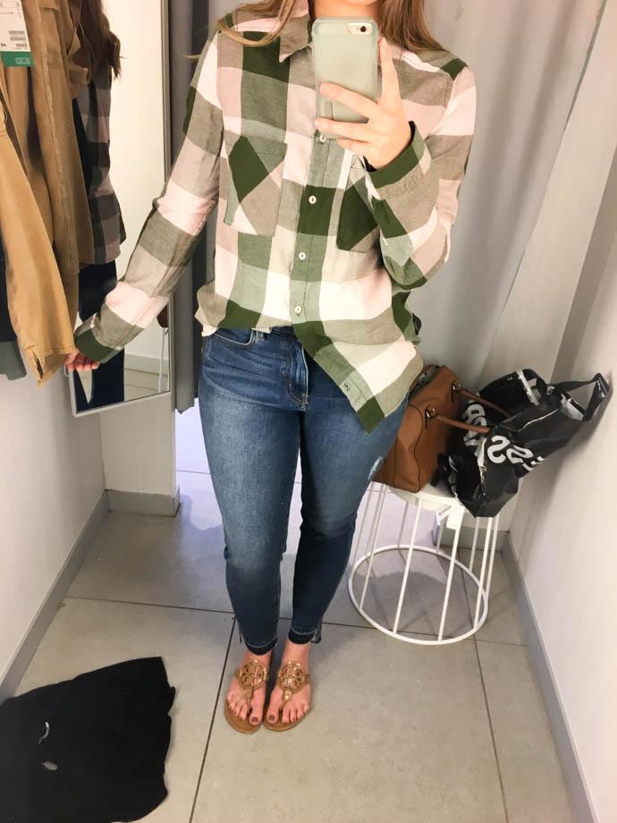 h&m flannel shirt, fall outfit 2017, amanda sumner, the girlish blog, girl(ish), sc fashion blogger