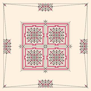 Cushion/Pillow Ornament/Pattern #0001 - Cross-Stitch/Blackwork  PDF Pattern Download