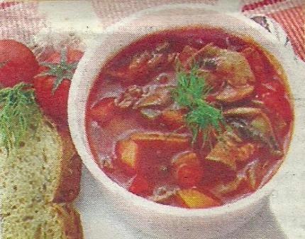 Состав продуктов и способ приготовления гуляша из сосисок
