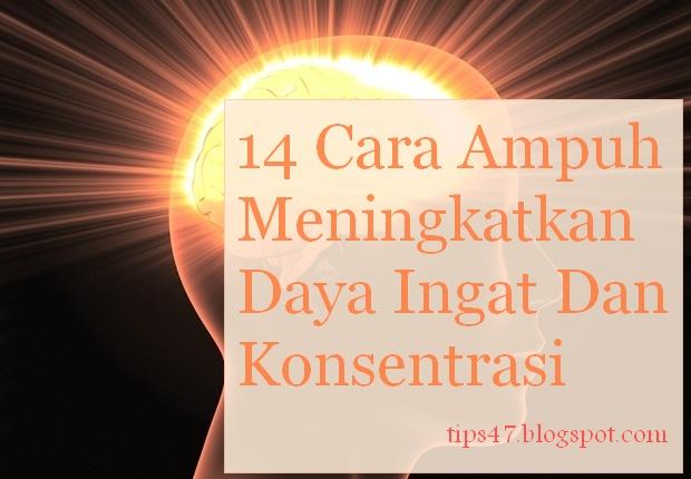 Cara Ampuh Meningkatkan Daya Ingat Dan Konsentrasi