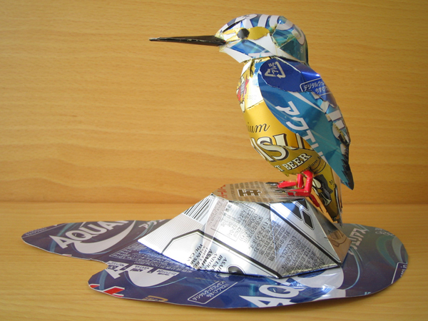 Recycled can art by Macaon