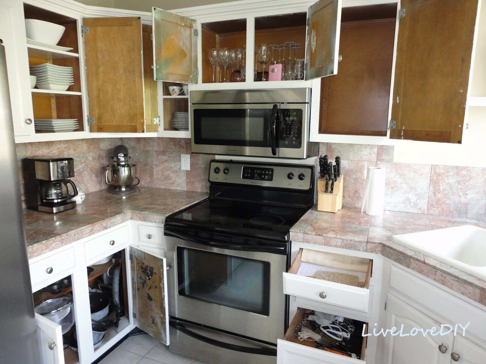 Inside Of Kitchen Cabinets Kitchen Cabinet Chalk Paint Makeover Creative Home