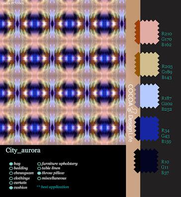 City aurora fabric design