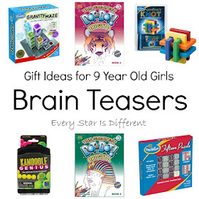 Gift Ideas for 9 Year Old Grils-Brain Teasers