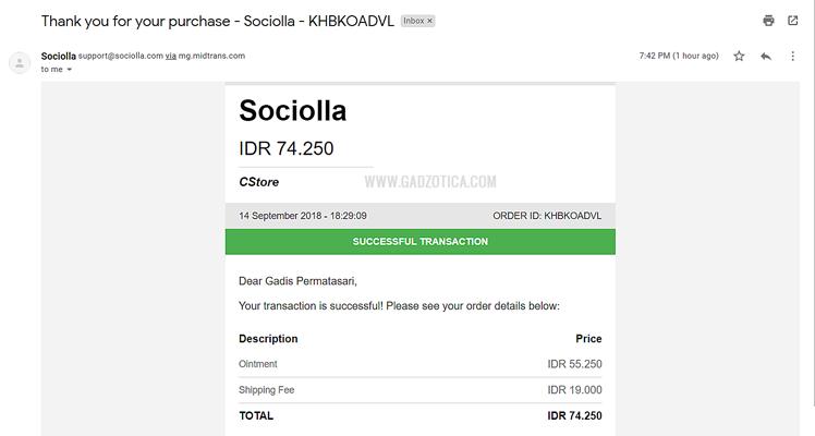 Bayar Sociolla via Indomaret