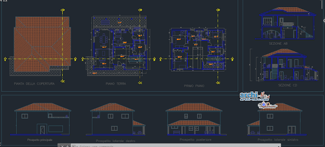 Groundfloor accommodation in AutoCAD