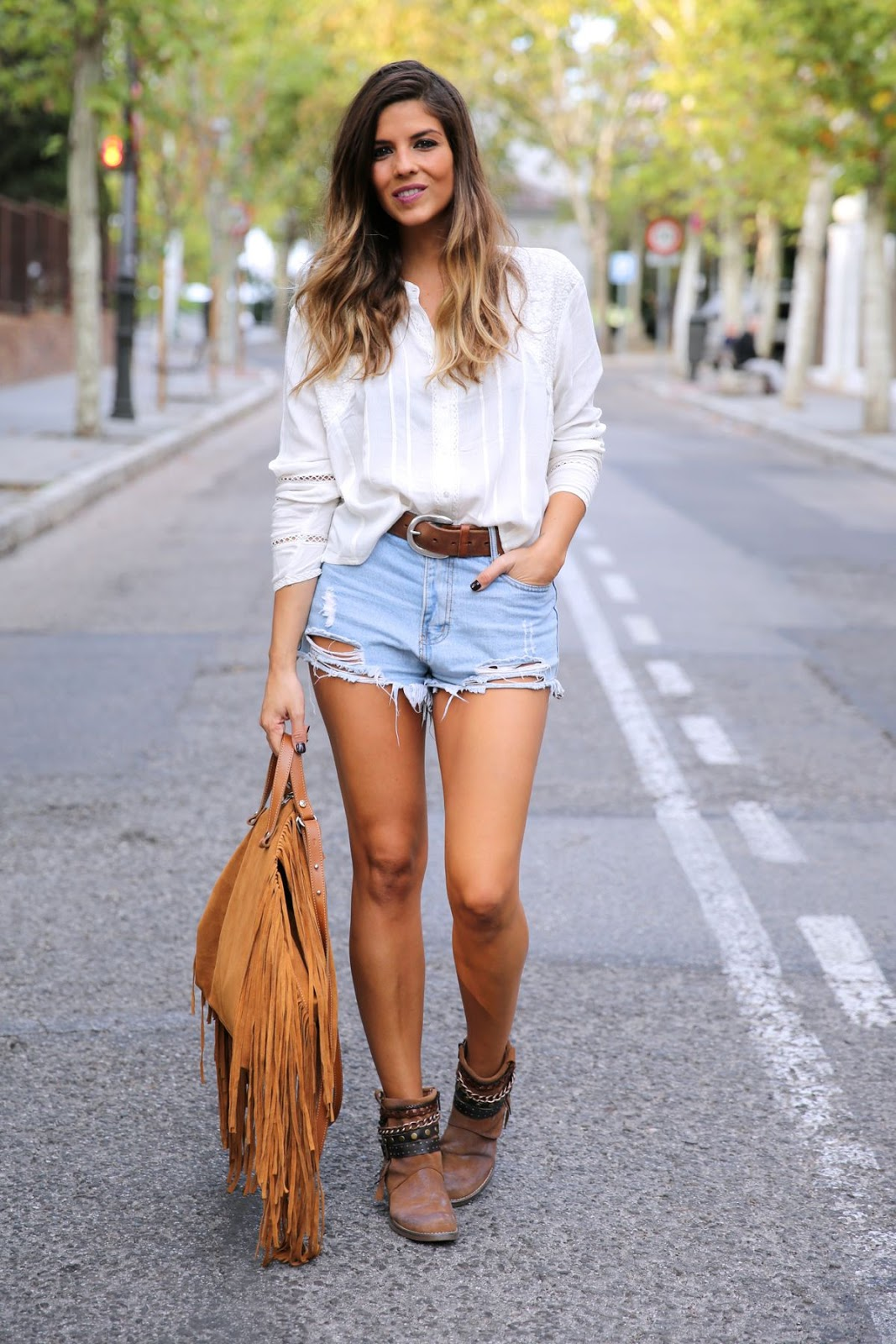 10 looks con shorts y blusa blanca u00a1Must Have total! - 4estilos.com