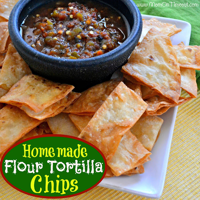 How to make tortilla chips out of flour tortillas in the oven