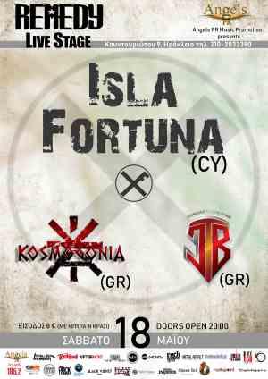 ISLA FORTUNA, KOSMOGONIA, JESSICA'S THEME BAND: Σάββατο 18 Μαΐου @ Remedy Live Club