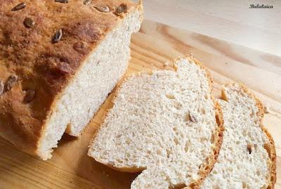 Pan de molde integral con pipas