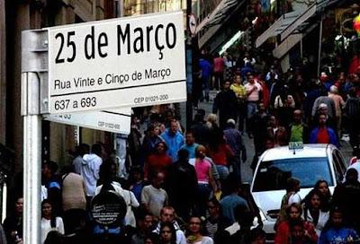 Rua 25 de março centro de São Paulo