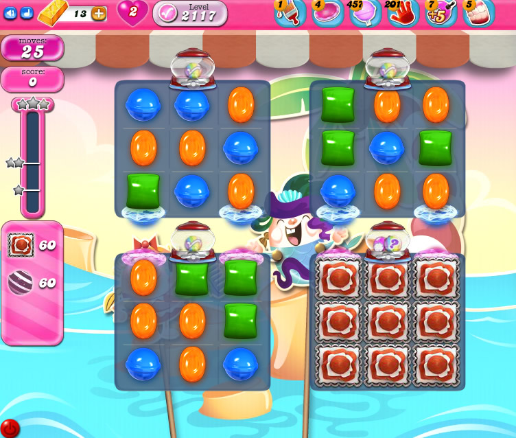 Candy Crush Saga level 2117