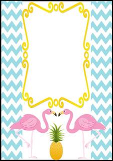 modelo de convite de flamingos