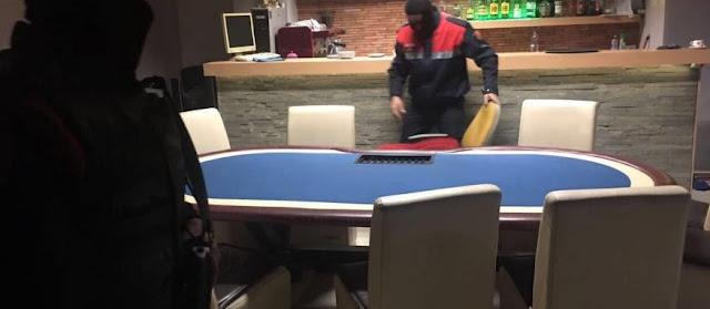 Poker table in a Bar in TIrana