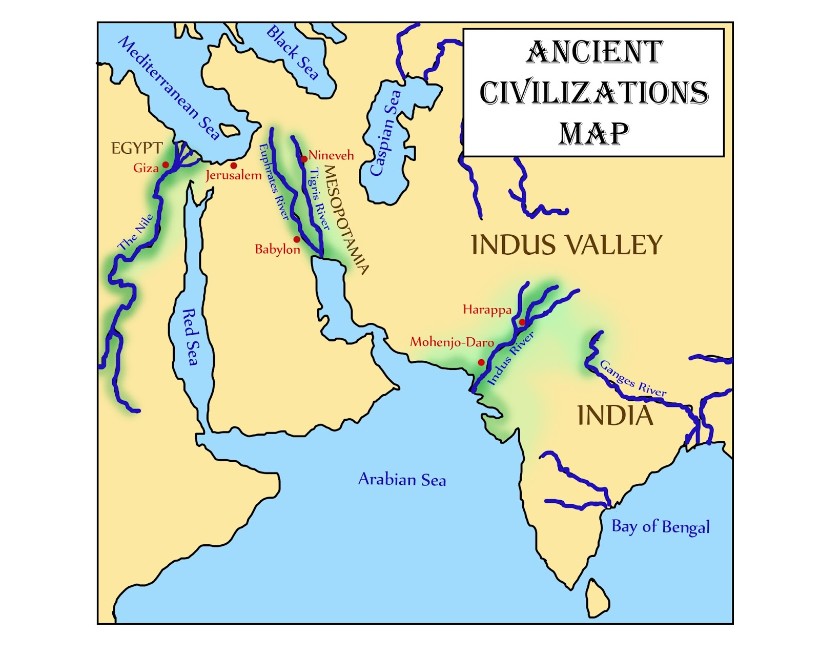 Glimmercat Education Introducing The Indus River Valley