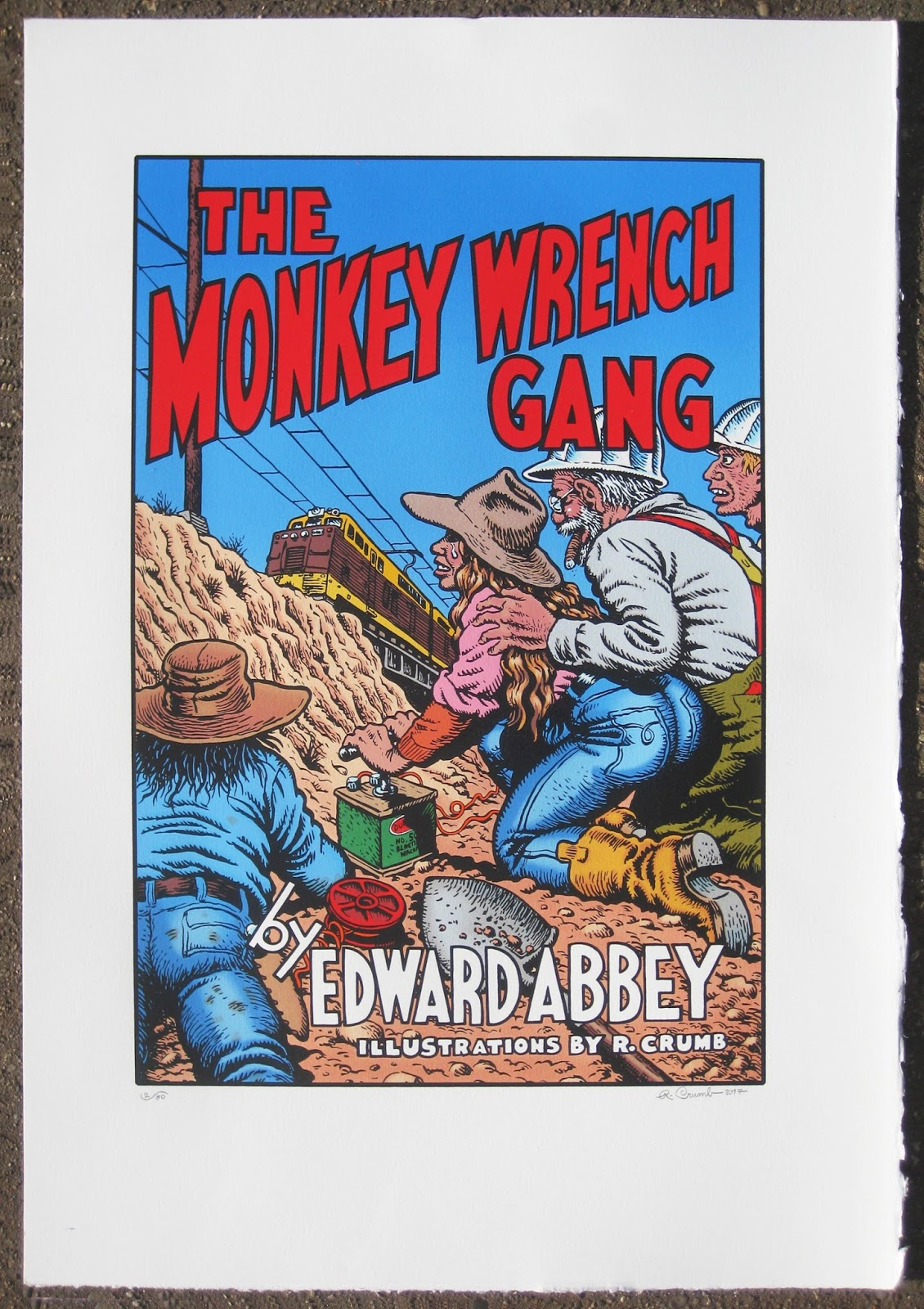 Crumb Newsletter The Monkey Wrench Gang Signed & Numbered Serigraph