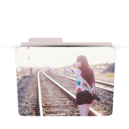 Creative Girl With Camera Folder icon