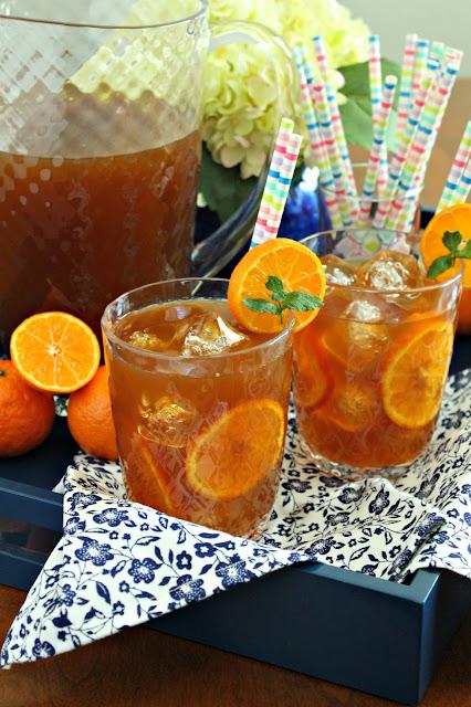 Tangerine Sweet Tea from LoveandConfections.com