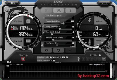 تحميل برنامج Msi Afterburner لكسر سرعة كارت الشاشة مع الشرح-002