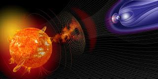 Tormenta solar y la magnetósfera de la Tierra