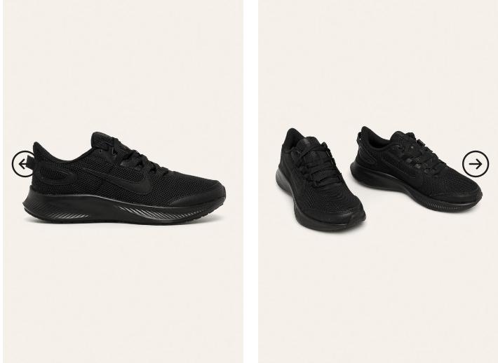 Adidasi dama Nike Runallday 2 negri originali foarte ieftini