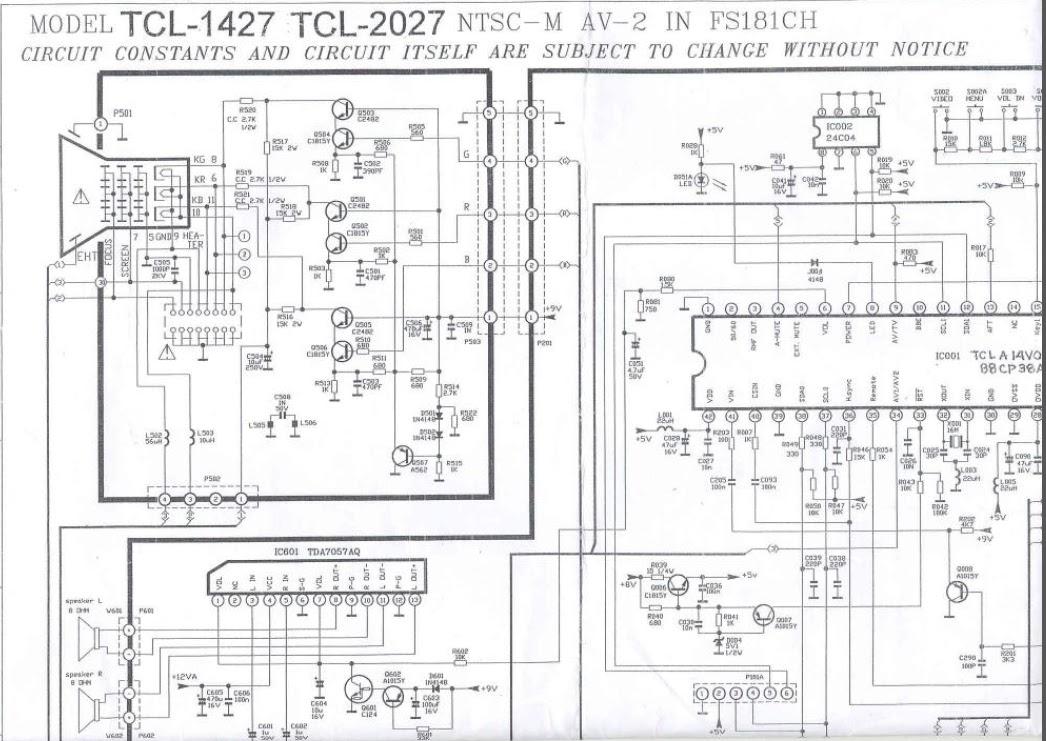 tcl 2027u schematic diagram