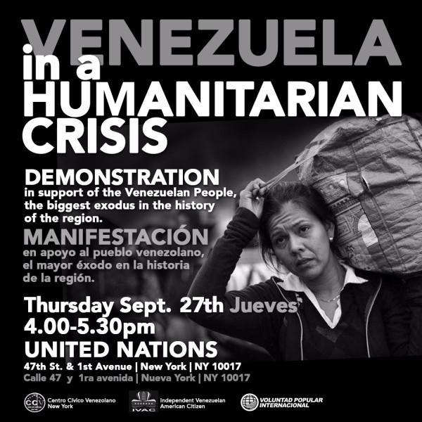 Diáspora venezolana se prepara para manifestar frente a la sede de las Naciones Unidas