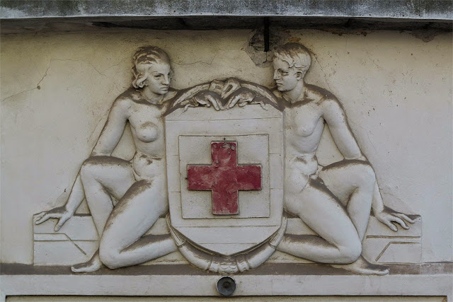 Bas-relief, Italian Red Cross, Livorno