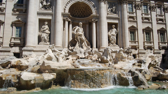 Wallpaper: Travel. Rome. Monument. Trevi Fountain