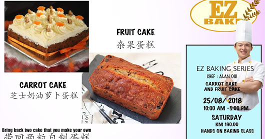 fruit cake and carrot cake hands on baking class