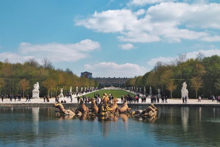 Fontaine dans les jardins du château de Versailles