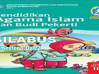 Silabus PAI dan BP Kelas 2 SD Kurikulum 2013 revisi 2017
