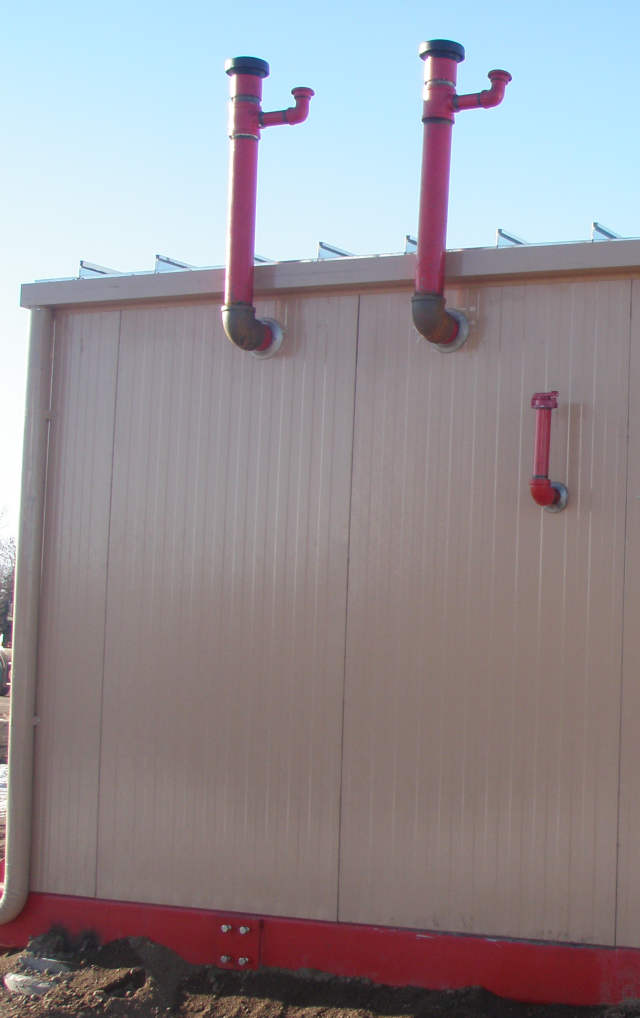 Anvil Fire Blog: Installation of Diesel Fuel Tanks for Fire