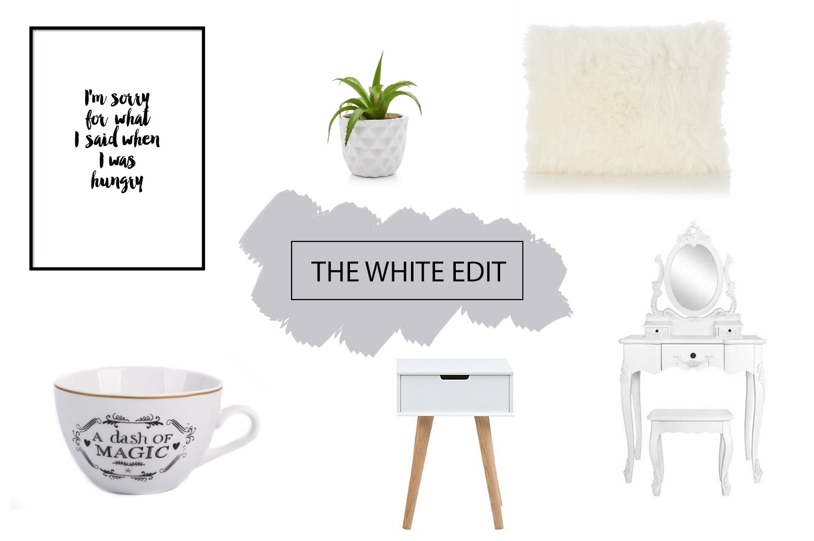 Image of white home accessories