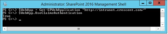 Check if SharePoint web application uses Claims Based