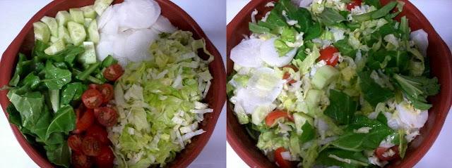 Receita de salada com queijo fresco