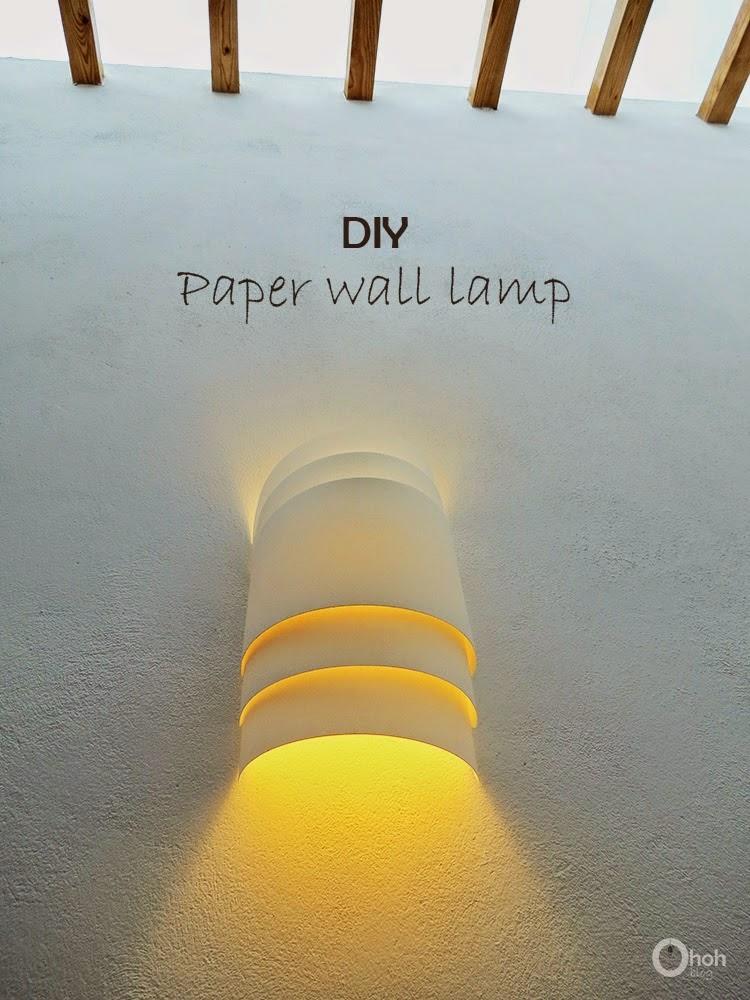 ma maison au naturel fabriquez une lampe murale avec du papier. Black Bedroom Furniture Sets. Home Design Ideas