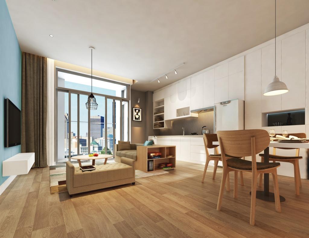 Phối cảnh căn hộ tại dự án Annecy Garden Hoàng Mai