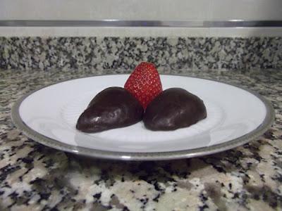 Fresas con cobertura de chocolate