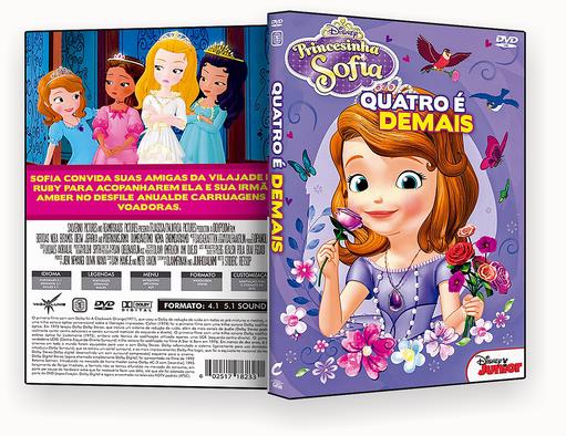 CAPA DVD – Princesinha Sofia Quatro E De Mais – ISO