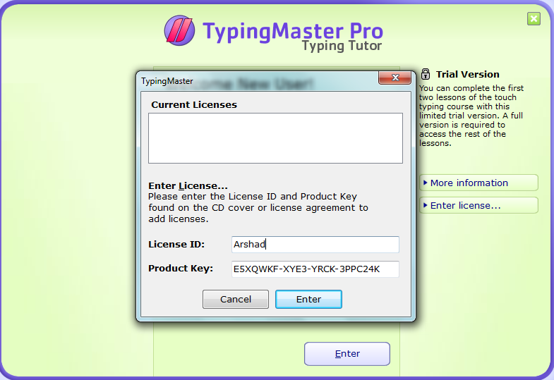 typing master pro licence id and product key