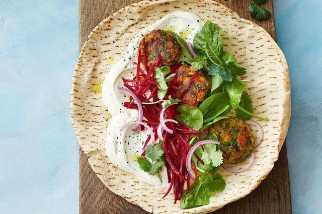 Zucchini And Haloumi Falafel Rolls Recipe