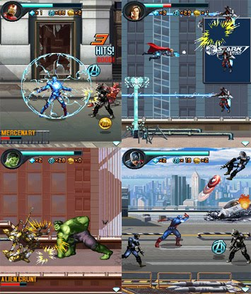 Avengers 240x320 Java Touchscreen Mobile Game Java