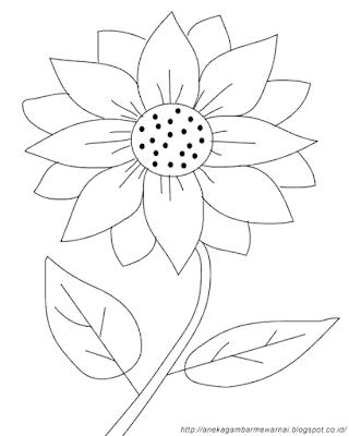Gambar Mewarnai Bunga Matahari (2)