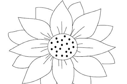 Gambar Bunga Matahari Mewarnai