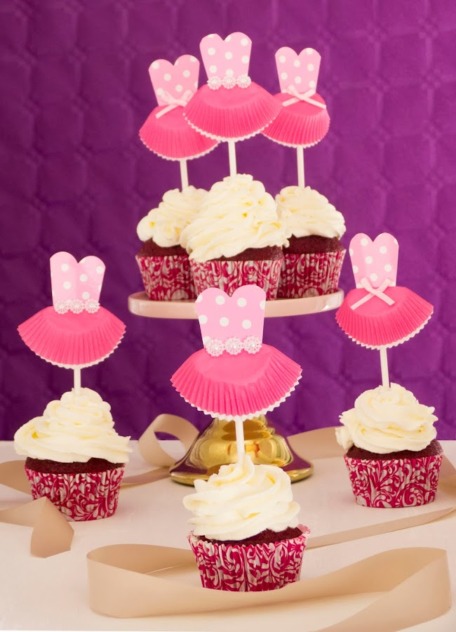 Cupcakes de bailarina para Las doce princesas bailarinas