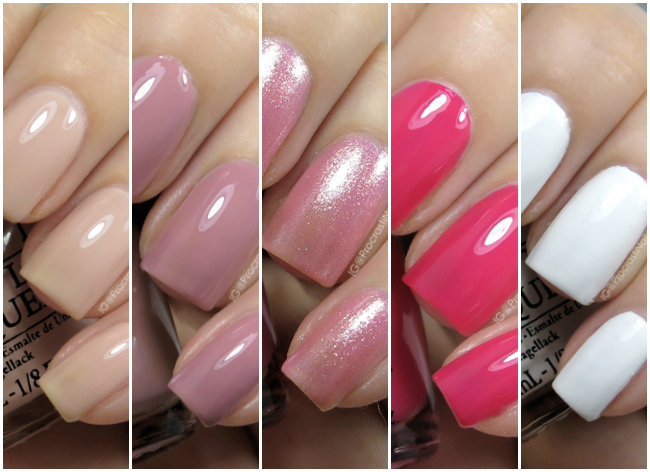 OPI All Stars Mini Collection Swatches